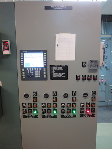 Calais WW Influent Pump Panel Photo